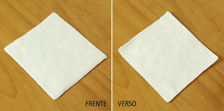 algodão quadrado
