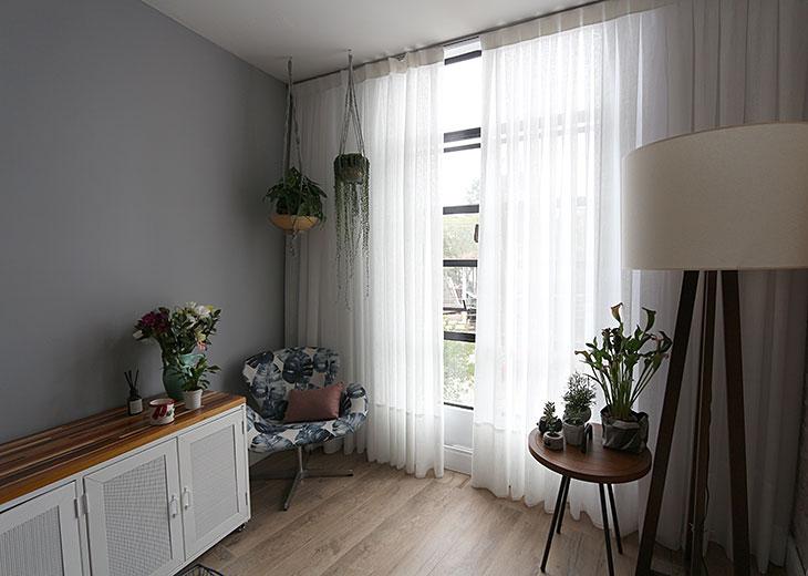 * As cortinas e persianas da minha casa nova!