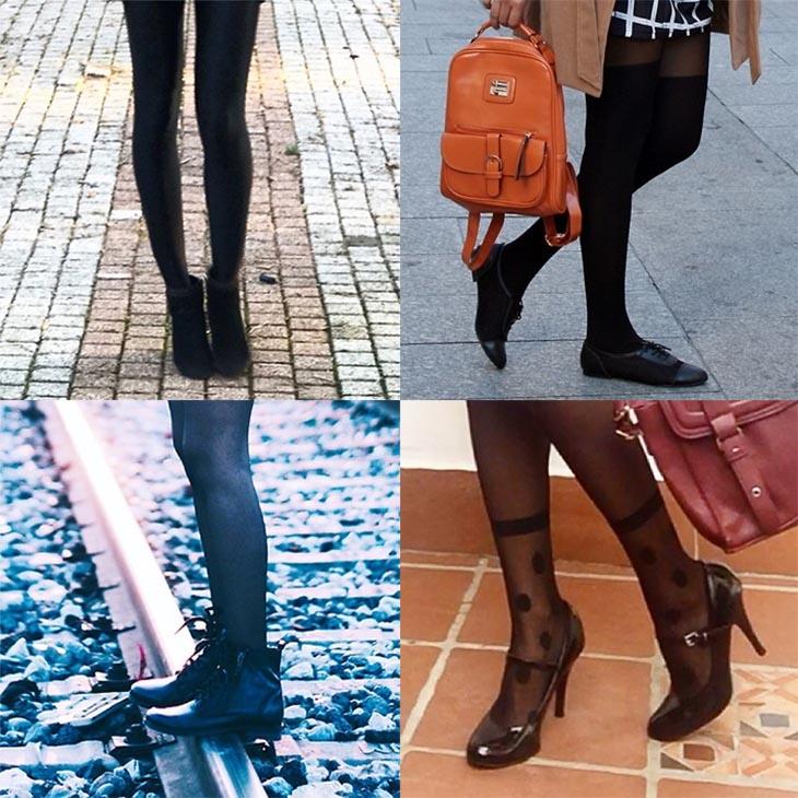 d9713ee4089 Como usar meia calça preta com saia ou vestido