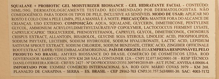 Squalane + Probiotic Gel Moisturizer Biossance